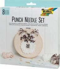 folia Punch Needle Set 8 Teile inkl. Punch Nadel Punchnadel Einfädler 23411