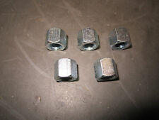 FIAT SPIDER, BRAVA, X1/9 EXHAUST NUTS, STEEL, REDUCED CLEARANCE, SET OF 5