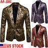 Men Wedding Party Lapel Tuxedo Formal Business Suit Blazer Jacket Coat Slim Tops