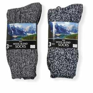 Mens Thick Heavy Duty Wool Blend Work Hiking Boot Socks Winter Warm Thermal UK