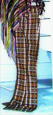 Plaid 1970s DESIGNER RAFT vintage Pants Wide Flare Bell Bottom, Ultra High Waist