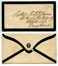 SIERRA LEONE 1861 Mourning cover to Woolwich PAID/LIVERPOOL/ BR.PACKET