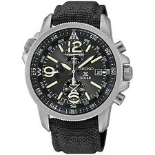 Seiko Dress Analog Mens Chronograph Black Watch Ssc293p1 SSC293P2