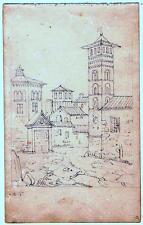 ASTI - PIEMONTE - COPPIA DISEGNI - 1860 c.a.