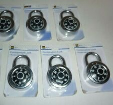 Lot Of 6 DG Office Combination Locks - School Supplies - Free Shipping - New