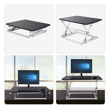 Height Adjustable Stand Up Desk Computer Workstation Lift Rising Laptop BLK&WH
