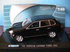 PORSCHE CAYENNE TURBO 2002 BLACK KDW 711 COLLECTION 1/43 NOIR NOIRE SCHWARZ