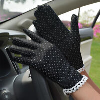 Women's Cotton Summer Lace Patchwork Gloves Anti-skid Sun Protection Fashion