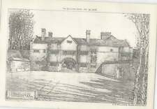 1908 Tirley Court, Cheshire, Entrance Front, Ce Mallows Architect