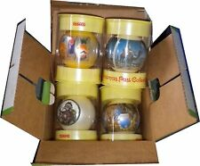 Vintage Corning Glass Works Christmas Past Collection Ornaments Boxed