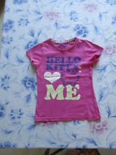 tee-shirt rose Taille 5Ans Marque Hello Kitty Fille occasion