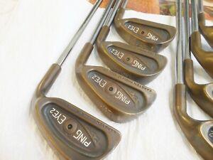 Ping  Eye 2 Beryllium,  Irons, (2 -Wedge), steel shafts, stiff, matching numbers