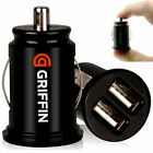 GRIFFIN 2 Port Dual Twin USB In Car Charger Cigarette Lighter Adapter Cell Phone