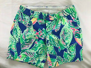 """NWT Women's Printed LILLY PULITZER """"JAYNE"""" Stretch Short Size 00 Retail $78"""
