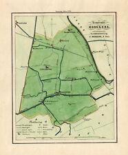 ANTIQUE MAP-HOLLAND-TOWN PLAN-HOOGKERK-GRONINGEN-OOMKENS-1862