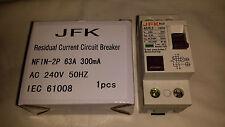 RCD 300ma  2 pole 63amp  AC 240volt 50HZ NEW BOXED!!!! solar panel use