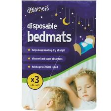 3 x Highly Absorbant Baby Toddler Disposable Bedmats Waterproof Incontinence