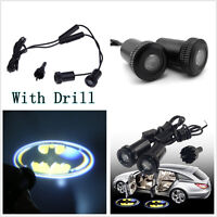 A Pair 3D Batman Pattern Car Door Welcome Ghost Shadow LED Projector Laser Light