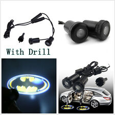 A Pair 3D Batman Pattern Car Door Welcome Ghost Shadow LED Projector Laser Light