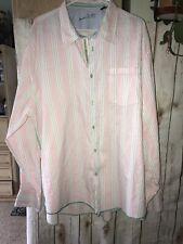 Arnold Zimberg Men's Button Up PINK Shirt XL Long Sleeve  w/ GREEN FELT TRIM