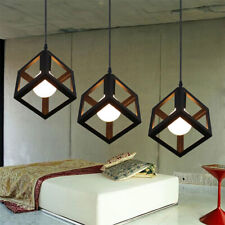 Retro Homary Black Framework Single Pendant Light Hanging Ceiling Lamp Fixture