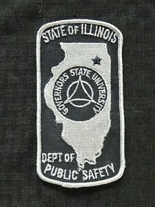 """""""GOVERNORS STATE OF ILLINOIS UNIVERSITY POLICE PUBLIC SAFETY"""" CHICAGO IL PATCH"""
