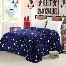 Star Soft Warm Plush Flannel Bedding Sleep Blanket Throw Flat  Woolen Rug Carpet