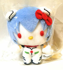 HELLO KITTY EVANGELION REI AYANAMI Plush Doll RARE Limited Japan Sanrio New