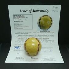 Hall of Fame Signed Baseball with Satchell Paige 21 Signatures Full JSA Letter