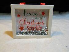 "New listing Shadow Box Wall Décor ~ ""Leave A Little Christmas Sparkle Wherever you go�"