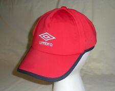 Umbro Red Baseball Cap Hat, One Size Adjustable NEW No Tags