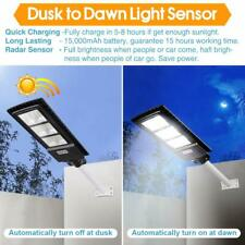 DengMall Solar Street Lights Outdoor 90W,Dusk to Dawn Security Light with Remote