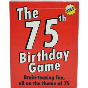 75th Birthday gifts THE 75th BIRTHDAY CARD GAME
