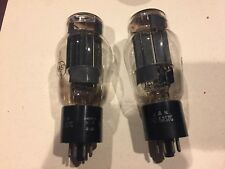 JAN-CRC-6AS7G RCA  pair amplifier tubes test NEW ST shape black plates  lc tu12
