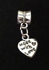 Heart Made With Love Dangle Charm Bead ~ For European Design Charm Bracelet