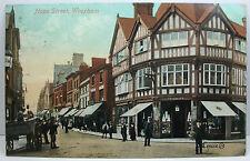 POSTCARD: Hope Street Wrexham, Postmark 1914