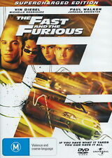 The Fast and The Furious DVD 2001 Region 4 Paul Walker VIN Diesel