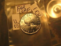 Super Rare Canada 1953 Mule 5 Cent Coin Far Leaf Shoulder Fold Variety ID#A31.