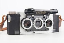 David White Stereo Realist 35mm Rangefinder Film Camera with Case & Strap V04