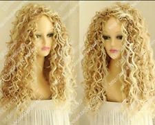 Women's New Long Mix Blonde Fashion Wig Curly wavy Afro Cosplay wig