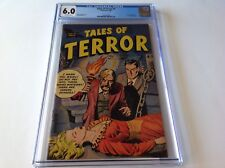 TALES OF TERROR 1 CGC 6.0 PRE CODE HORROR BLONDE RED DRESS FLYING SAUCER TOBY