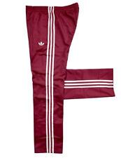 Adidas Damen Firebird Trainingshose Beckenbauer Jogging Hose Pant retro weinrot