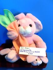 Commonwealth Pink Bunny/Rabbit In Pajamas and With a Carrot Blanket(310-974-1)