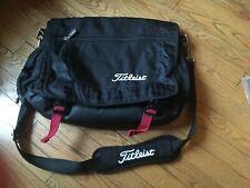 Titleist Golf Briefcase Laptop Computer Messenger Shoulder Bag Black Nylon