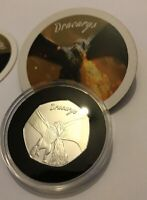 Game Of Thrones GOT Medal 50p Coin Shaped Like kew shaped coin Bu and Coa