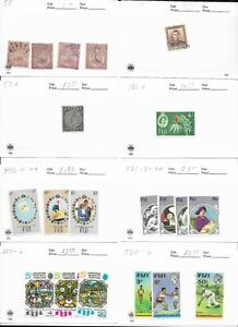 Fiji Lot of 20 Stamps MH/USED CAT VALUE $24.00