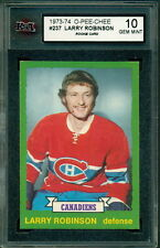 1973 74 OPC #237 LARRY ROBINSON RC KSA 10 GEM MINT ROOKIE CARD CANADIENS