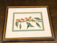 Original Water Color Painting Flowers Picture indiana - Signed Kathy 1987 Framed