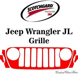 3M Scotchgard Paint Protection Film Clear 2018 2019 2020 Jeep Wrangler JL Grille