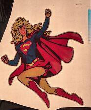 1970's Superman Supergirl D.C. DC movie TV vTg Orig t-shirt iron-on NOS UNUSED
